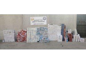 Gaziantep'te 12 bin 960 paket kaçak sigara ele geçirildi
