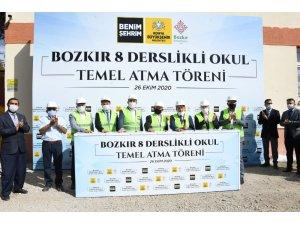 Bozkır'da 8 derslikli okulun temeli atıldı
