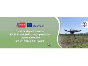Türkiye Ulusal Ajansı'ndan OMÜ'nün 2 ayrı Erasmus + projesine 350 bin euro destek