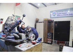Engelli araçlarının bakım ve onarımı Talas Belediyesi'nden