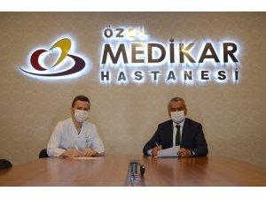 Gençlik ve Spor İl Müdürlüğü ile MEDİKAR Hastanesi arasında protokol imzalandı