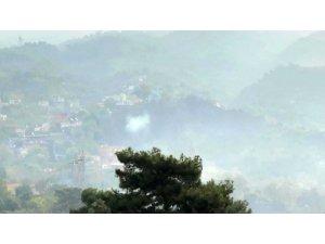 Hatay'daki yangına sabahın ilk ışıklarıyla havadan müdahale
