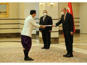 Cumhurbaşkanı Erdoğan, Kamboçya Büyükelçisini kabul etti