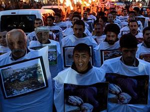 Halepçe halkı şehitlerini anıyor