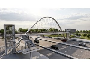 Gölbaşı Belediye Başkanı Şimşek, Ankara'da ilk olacak bisiklet köprüsü kuruyor