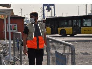 Üsküdar'da toplu taşıma araçları dezenfekte edildi