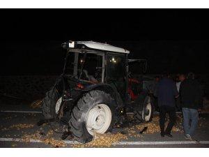 Kamyon ile traktör çarpıştı ortalık savaş alanına döndü: 1 ölü, 3 yaralı
