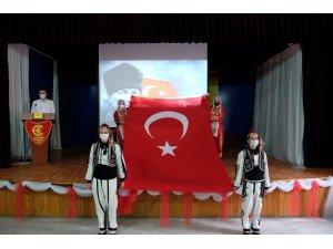 Öğrencilerin 'Cumhuriyet' coşkusu renkli görüntülere sahne oldu