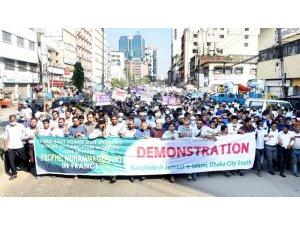 Bangladeş'te Fransa karşıtı protestolar devam ediyor