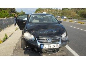 Burhaniye'de zincirleme kazada 6 araç birbirine girdi