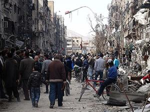 Esed yardım dağıtım merkezine saldırdı: 9 ölü