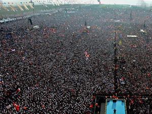 Erdoğan: 2 milyon Emniyet: 220 bin