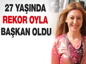 27 yaşında rekor oyla belediye başkanı oldu; Leyla İmret