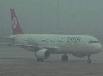 THY'nin uçağına sis engeli
