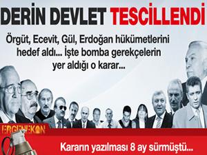 Ergenekon'da gerekçeli karar açıklandı!
