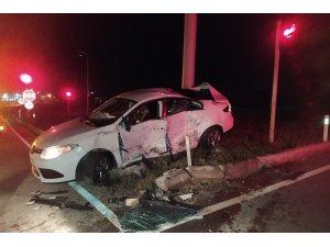 Tekirdağ'da otomobil ile kamyonet çarpıştı: 1 Yaralı