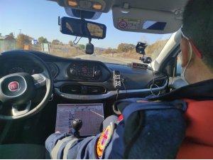 Balıkesir'de jandarman radarlı trafik denetimi