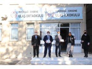 Ergene'de öğrencilere tablet dağıtıldı