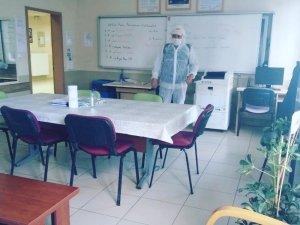 Okullarda dezenfekte çalışmaları