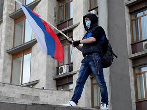 Rusya yanlıları Donetsk Valiliği'ne girdi