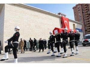 Şehit polis, törenle son yolculuğuna uğurlandı