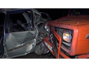 Kırıkkale'de feci kaza: Kamyonetin çarptığı sürücü ölümden döndü