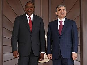 Kenya Cumhurbaşkanı Kenyatta Ankara'da
