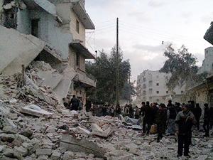 """Suriye rejimi """"varil bombasıyla"""" saldırdı"""