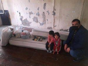 Yangın mağduru Suriyeli aileye yardım
