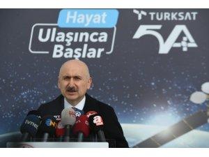 """Bakan Karaismailoğlu: """"Türksat 5A ve 5B uyduları için yer istasyonları kurulum çalışmalarında son aşamaya geldik"""""""