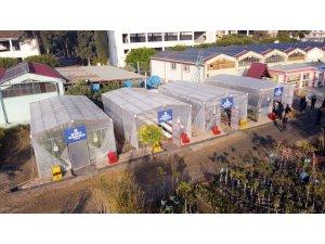 Tarsus Belediyesi, geri dönüşüm malzemelerinden 4 adet sera kurdu