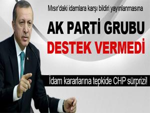 Ak Parti CHP'nin Mısır teklifini reddetti!