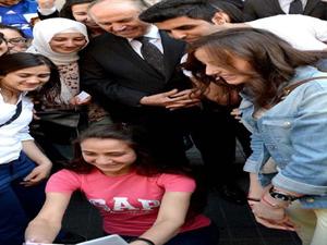 Selfie modasına Topbaş'da uydu