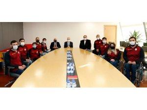 Mustafa Cengiz, Tekerlekli Sandalye Basketbol Takımı ile bir araya geldi