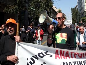 Yunanistan'da 24 saat süren grev yaşamı felç etti