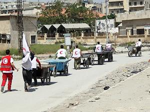 BM Halep'in doğusuna yardım ulaştırdı