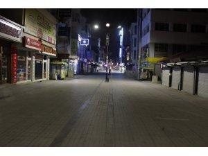 Ağrı'da cadde ve sokaklarda sessizlik hakim