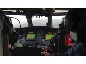 Jandarmadan helikopterli korona virüs denetimi