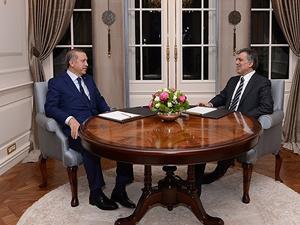 Cumhurbaşkanı Gül Başbakan Erdoğan'ı kabul etti