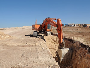 Irak-Suriye sınırına hendek kazılıyor