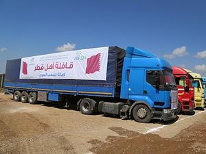 Suriye'ye 134 tırlık yardım
