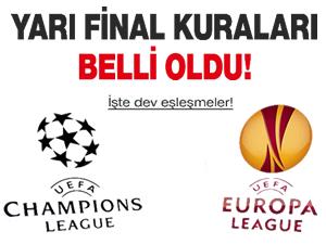 Şampiyonlar Ligi ve Avrupa Ligi yarı final kuraları çekildi