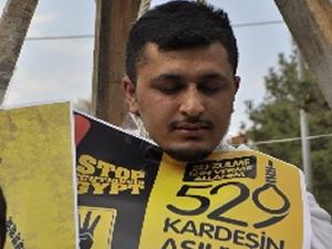Çorum'da Mısır'daki idam kararına tepki