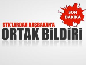 STK'lardan Başbakan'a ortak bildiri