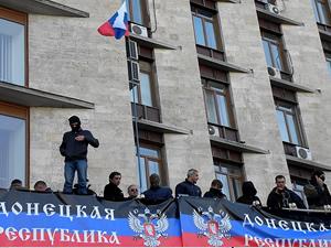 Ukrayna'da Protestocular emniyet müdürlüğünü işgal etti