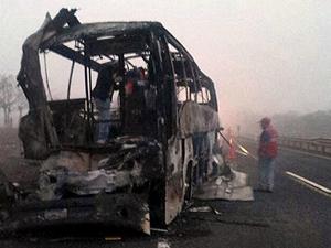 Meksika'da otobüs kamyonla çarpıştı