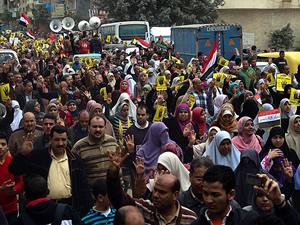 Mısır'da polisin müdahalesine protesto