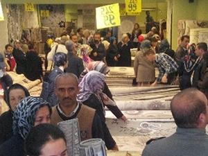 Kırıkkale'de bedava halı kavgası