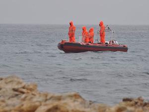 Ege'de kaçakları taşıyann bot battı