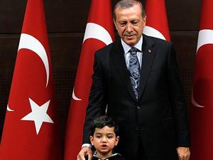 Erdoğan'ı duygulandıran Suriyeli çocuk